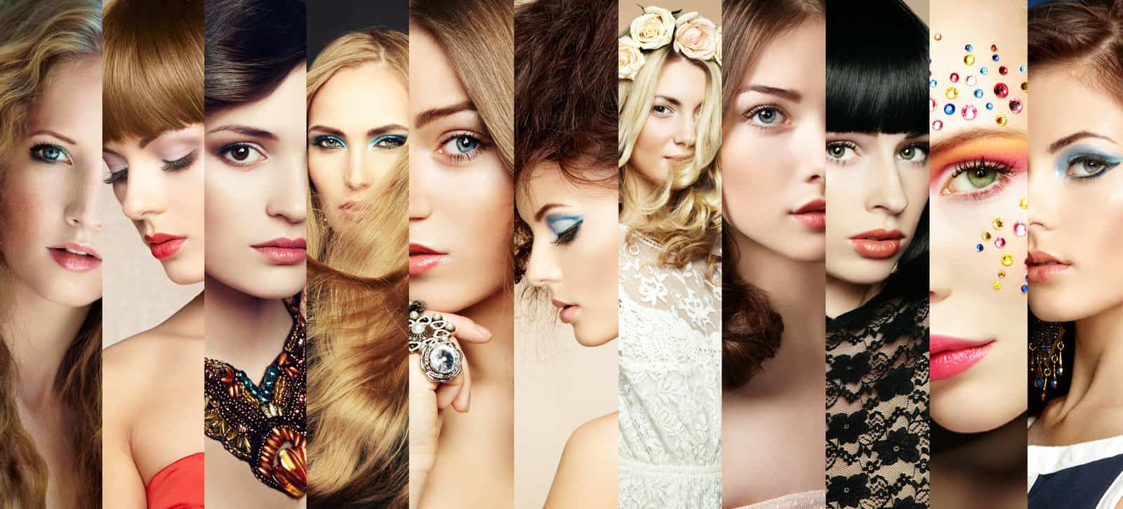 Women's hairstyles collage