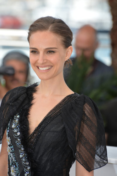 Natalie Portman with her upstyle hairstyle at the 68th annual Cannes Film Festival 2015.
