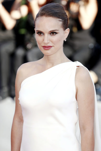 Natalie Portman with her elegant upstyle hairstyle at the premiere of 'Planetarium' during the 73rd Venice film festival 2016.