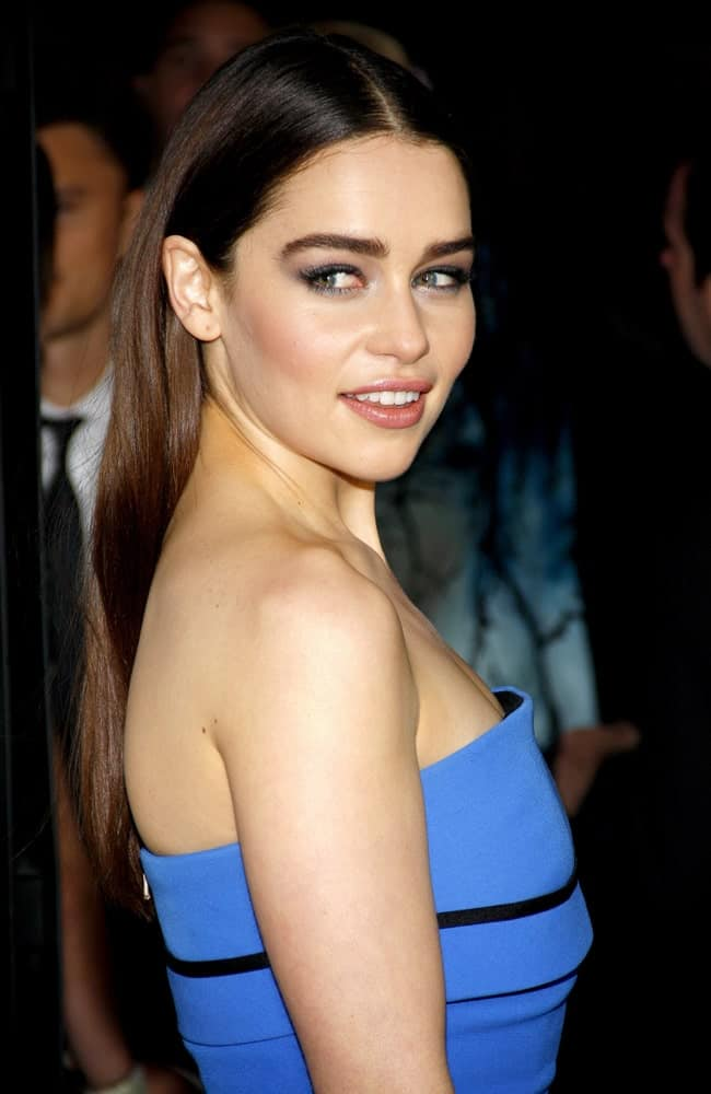 Emilia Clarke at the HBO's third season premiere of