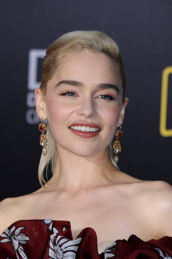 Emilia Clarke at the premiere of Disney Pictures and Lucasfilm's 'Solo: A Star Wars Story' held at the El Capitan Theatre in Hollywood, USA on May 10, 2018.