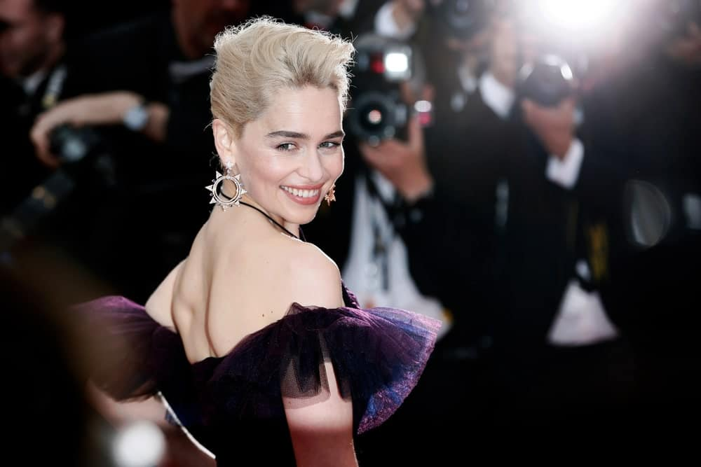 Emilia Clark smiles at the the screening of 'Solo: A Star Wars Story' during the 71st annual Cannes Film Festival at Palais des Festivals on May 15, 2018 in Cannes, France.
