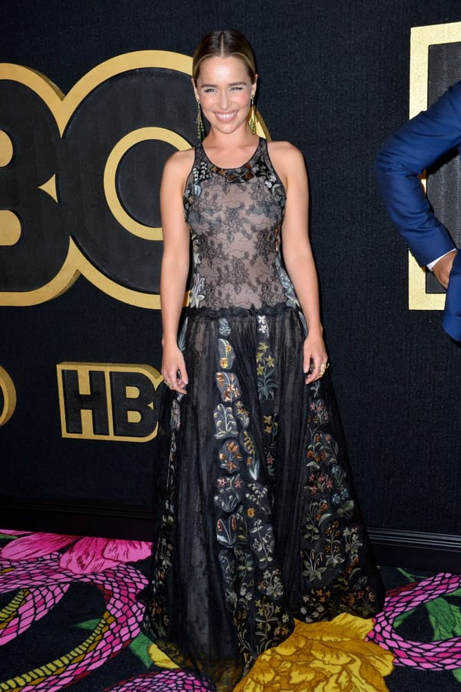 Emilia Clarke at The HBO Emmy Party at the Pacific Design Centre in 2018.