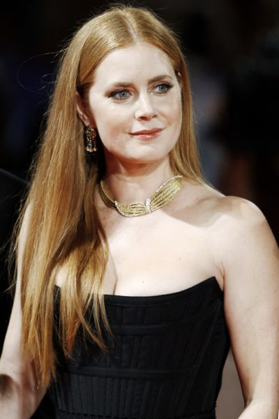 Amy Adams with gorgeous long straight red hair in September 2016.