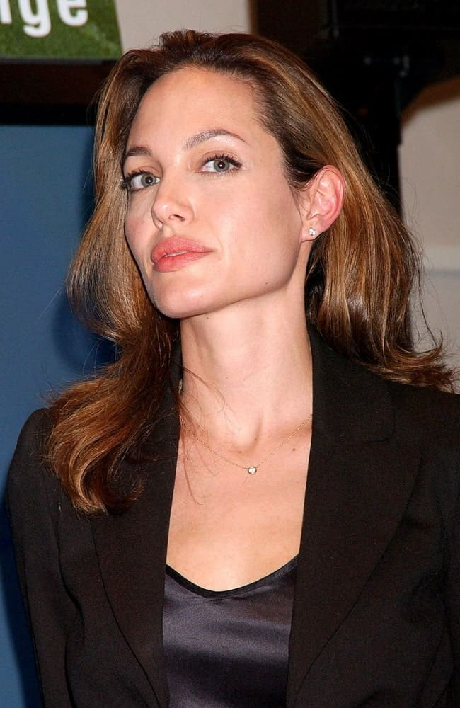 Angelina Jolie was at the press conference for The Third Annual Clinton Global Initiative Summit in Manhattan, New York, NY on September 26, 2007. She was charming in her smart casual outfit and long tousled hairstyle loose on her shoulders.