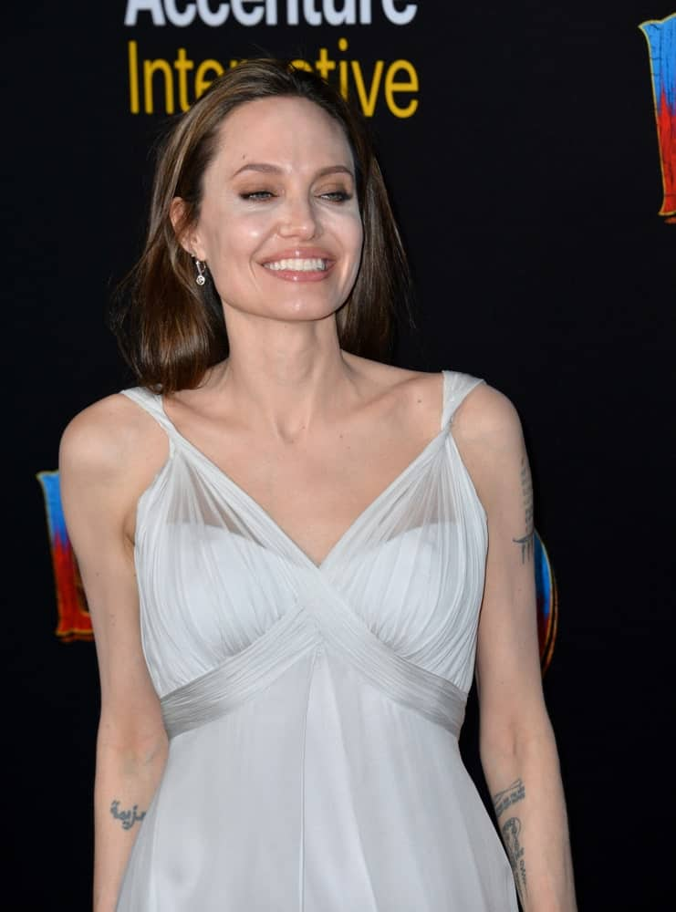 On March 11, 2019, Angelina Jolie smiled for the cameras at the world premiere of