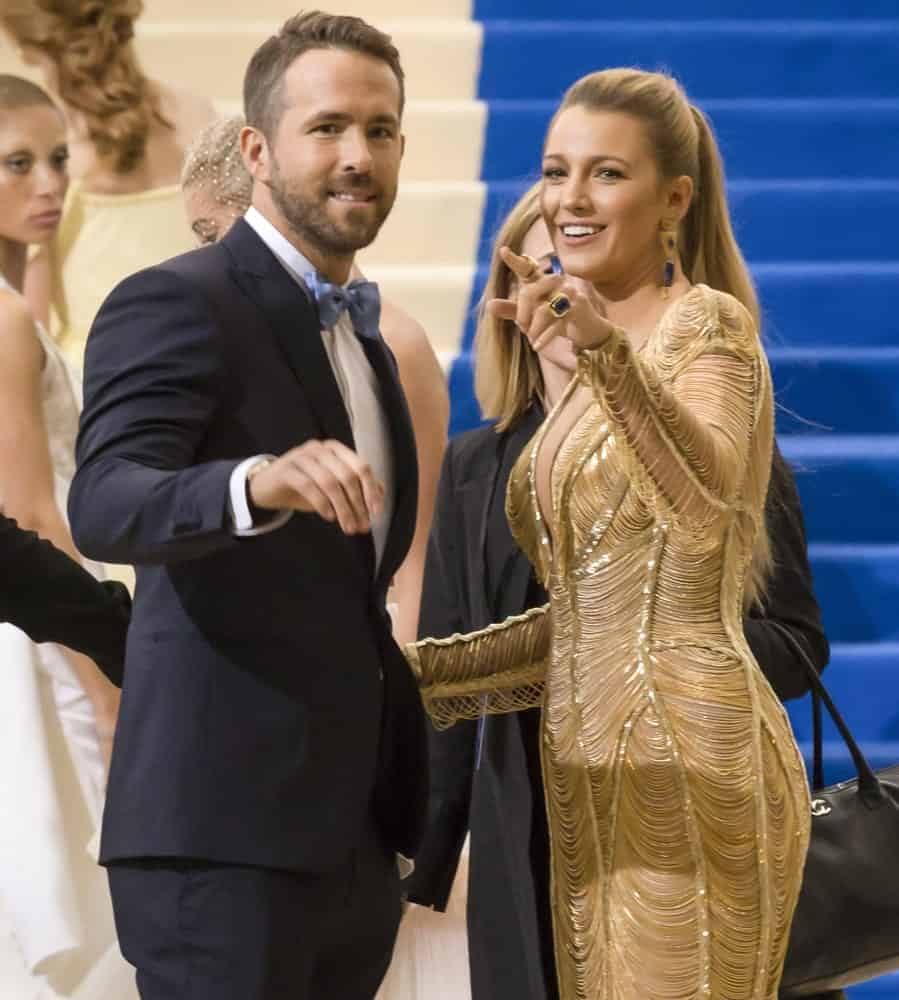 Back in May 01, 2017, Ryan Reynolds and Blake Lively attended the 'Rei Kawakubo/Comme des Garcons: Art Of The In-Between' Costume Institute Gala at Metropolitan Museum of Art. Lively paired her golden dress with a blond high ponytail.