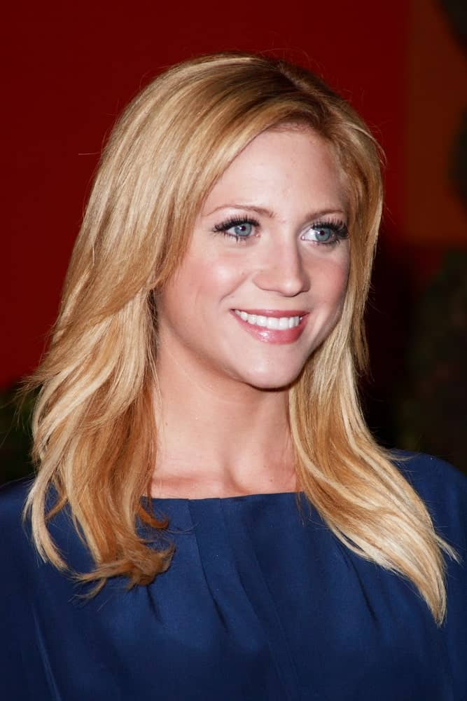 Brittany Snow attended the Diversity Awards 2007. She was seen wearing a blue smart casual outfit with her medium-length layered and loose sandy-blonde hairstyle.
