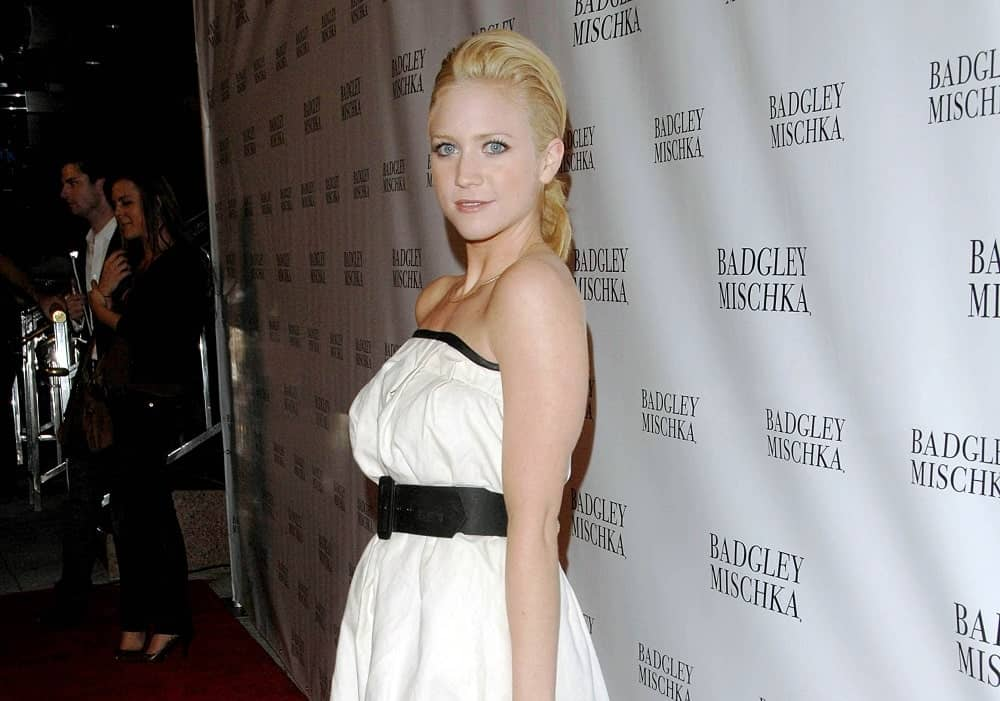 Brittany Snow was at the Launch Party for Badgley Mischka Campaign at the One Sunset Restaurant in Los Angeles, CA on August 27, 2007. She was seen wearing a white dress with her elegant blonde ponytail hairstyle with a slight pompadour finish.