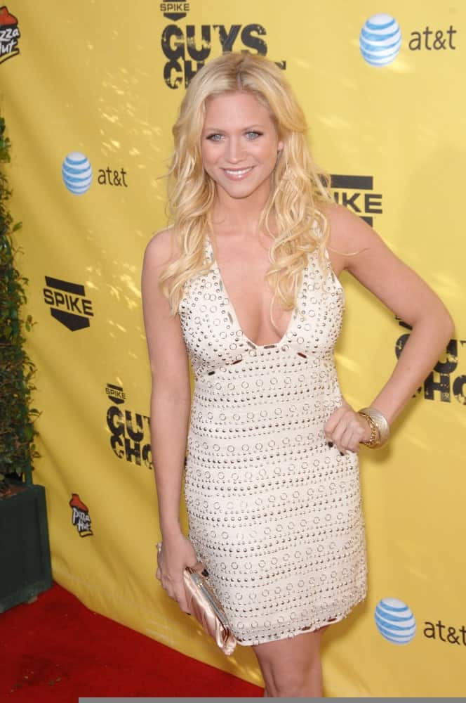 Brittany Snow attended the Spike TV's Guys Choice Awards at Radford Studios in Studio City, CA on June 10, 2007. She was lovely in a beige dress that she paired with her long and layered blonde beach waves.