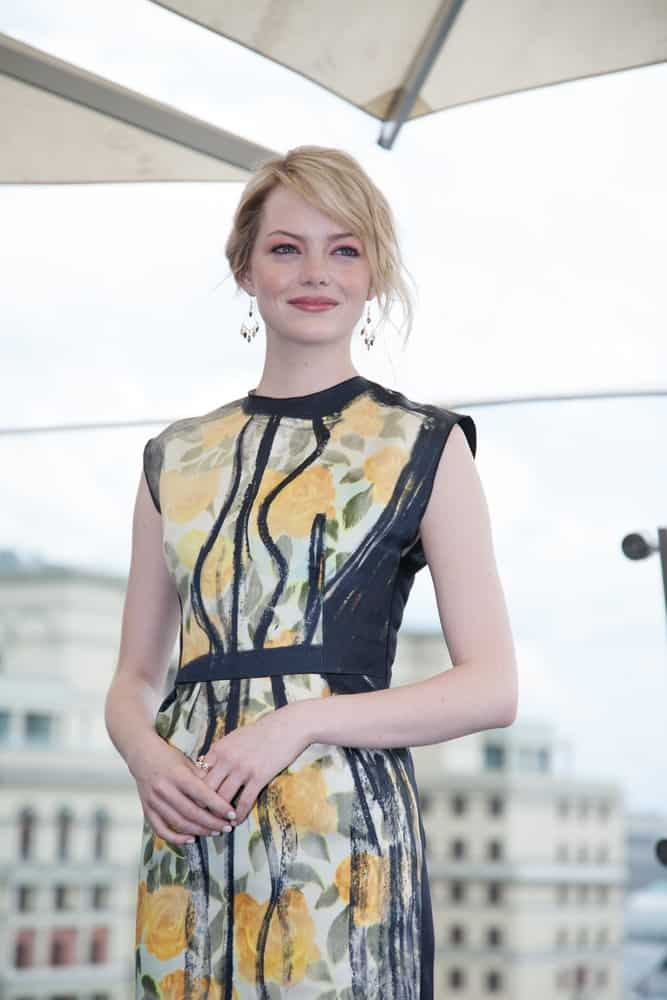 Actress Emma Stone was at the premiere of the movie