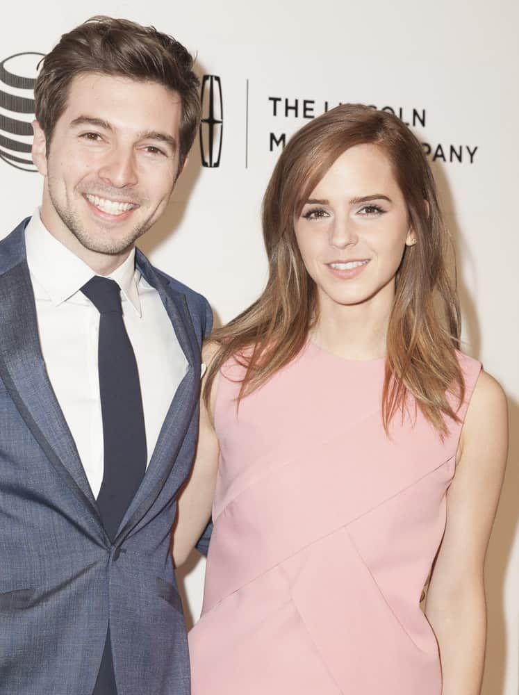 On April 20, 2014, Roberto Aguire and Emma Watson attended the premiere of
