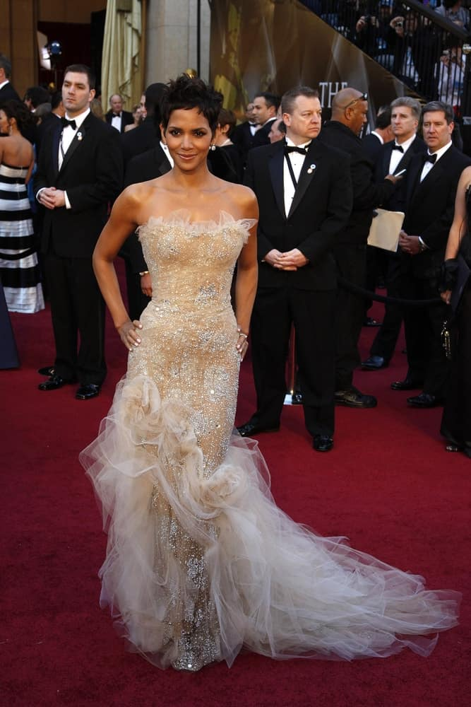 Halle Berry was the belle of the ball with her stunning long gown and breathtaking tousled pixie hairstyle at the 83rd Annual Academy Awards - Oscars at the Kodak Theater on February 27, 2011 in Los Angeles, CA.