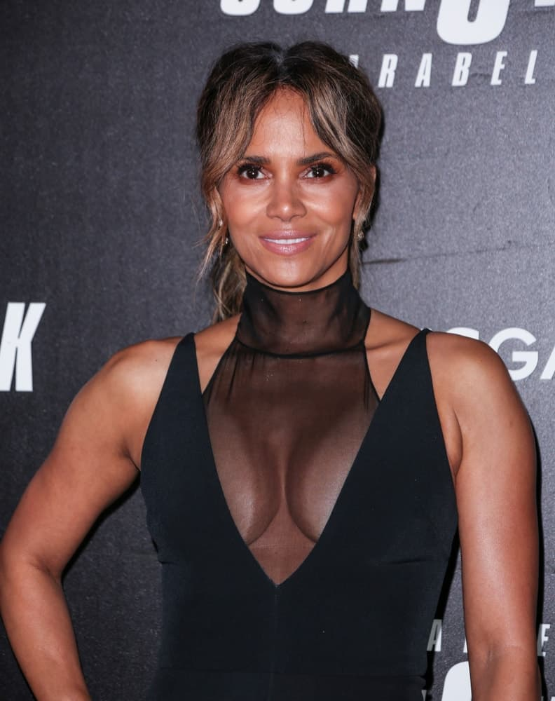 On May 9, 2019, Halle Berry showed everyone that she ages gracefully with her sexy black dress and highlighted low ponytail with wispy curtain bangs when she attended the