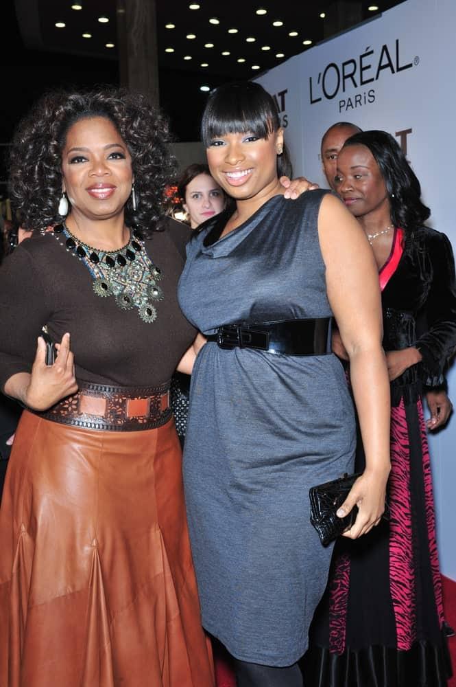 Jennifer Hudson & Oprah Winfrey were at the Los Angeles premiere of
