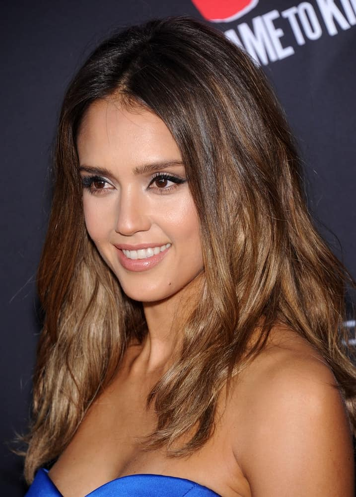 Jessica Alba arrived at the
