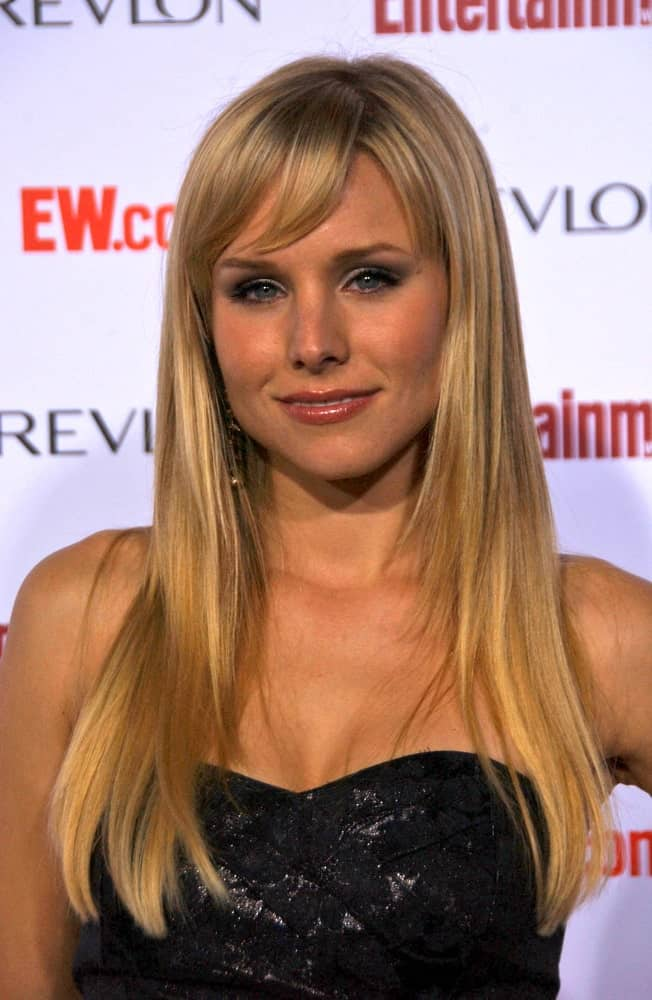 Kristen Bell went for a layered hairstyle with highlights and side bangs at the Entertainment Weekly's 5th Annual Pre-Emmy Party last September 15, 2007, in Opera and Crimson, Hollywood, CA.