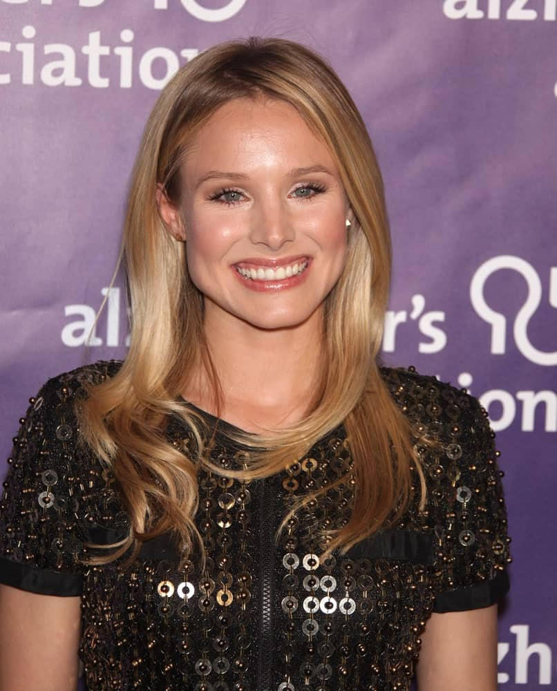 Kristen Bell flaunted her silky blonde tresses with subtle waves at its ends during the19th Annual