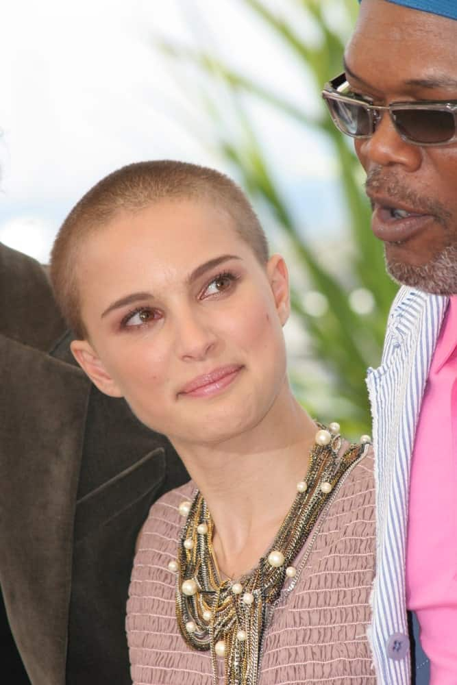 Natalie Portman wowed everyone with her beautiful features complemented by her shaved head when she attended the photocall promoting the film 'Star Wars Episode III' at the Palais during the 58th Cannes Film Festival on May 15, 2005 in Cannes, France.