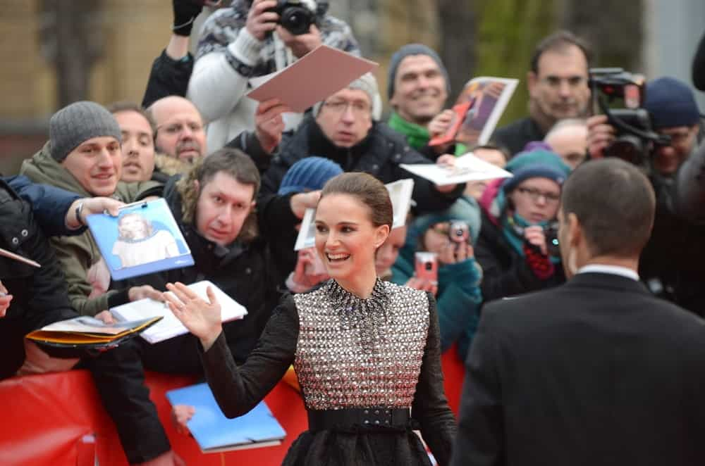 Natalie Portman greeted her fans at the 65rd Annual Berlinale International Film Festival