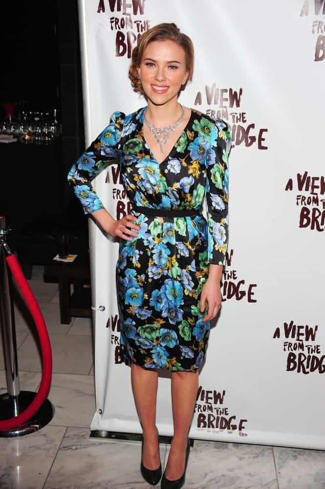 Scarlett Johansson wore a floral Dolce & Gabbana dress at the