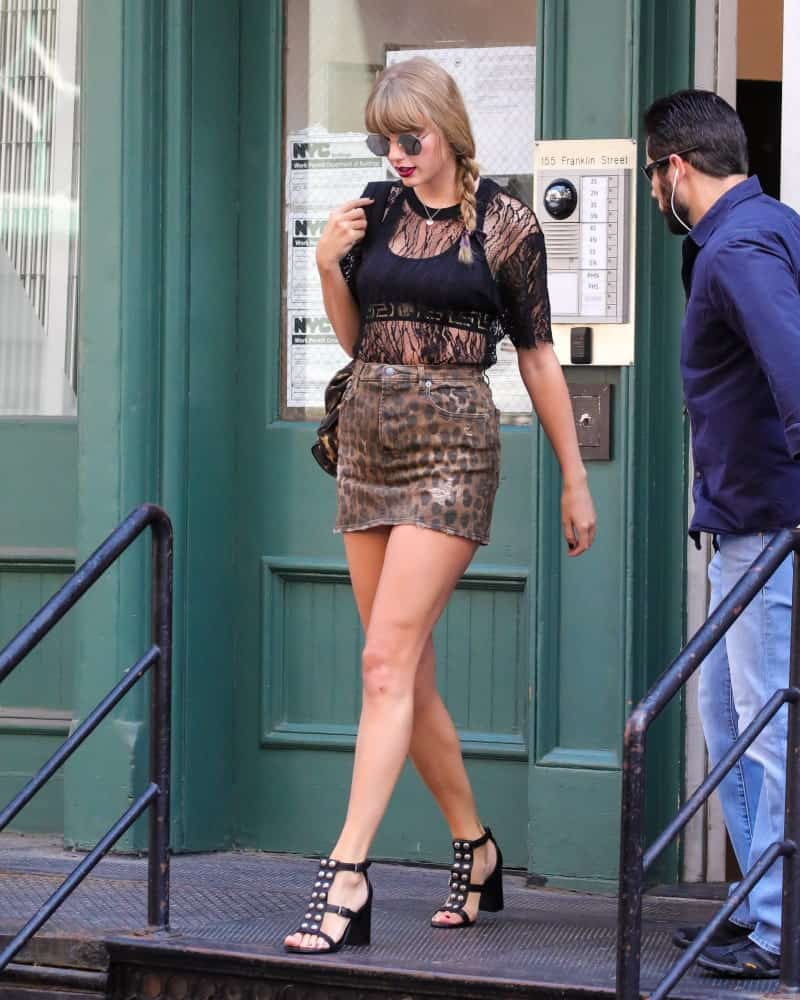 Taylor Swift was wearing a side braided ponytail with bangs when she was spotted in New York City last July 20, 2018.