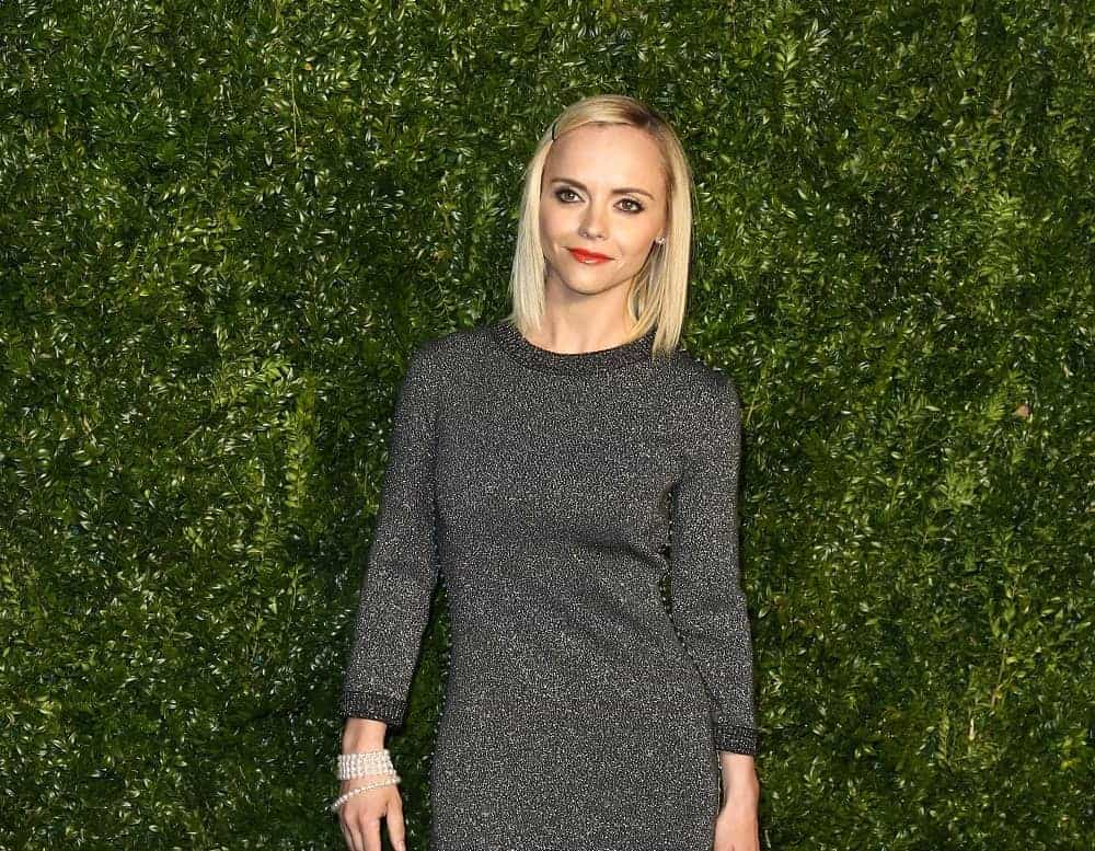 Actress Christina Ricci attended the 12th Annual Tribeca Film Festival Artists Dinner hosted by Chanel at Balthazar Restaurant on April 24, 2017, in New York City. She came in a gray dress that went well with her straight shoulder-length blonde hairstyle incorporated with a pin.