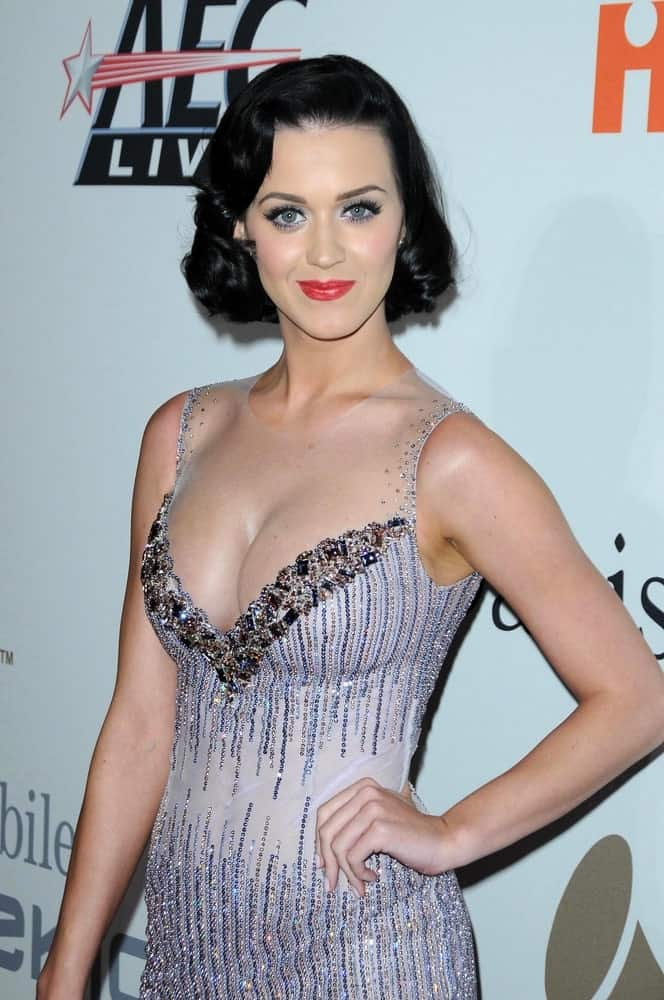 The singer had short vintage curls during the Salute To Icons Clive Davis Pre-Grammy Gala at Beverly Hilton Hotel, Beverly Hills on February 7, 2009.