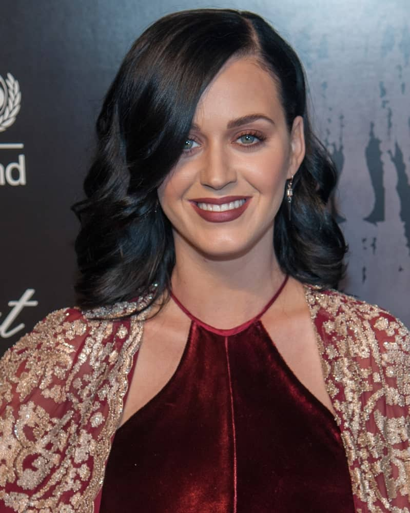 The singer had side-parted black waves to pair with her red halter gown at the 9th Annual UNICEF Snowflake Ball at Cipriani Wall Street on December 3, 2013.
