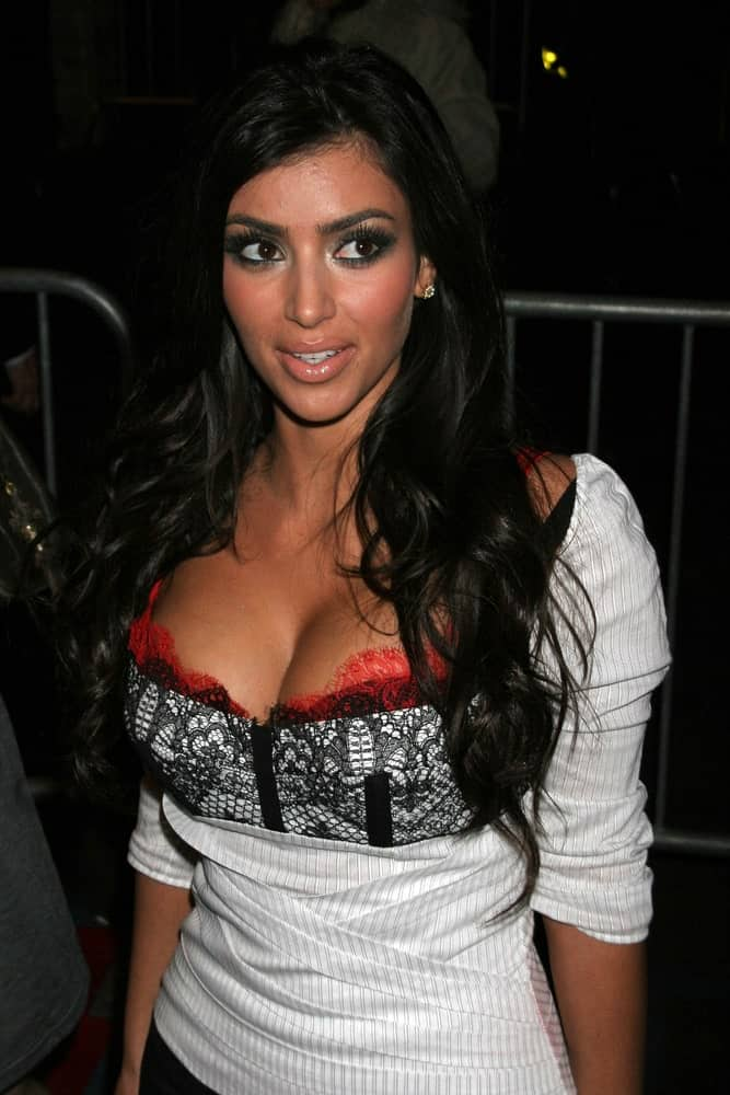 On December 7, 2006, Kim Kardashian attended the Armani Exchange and Details Magazine's