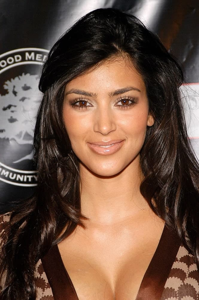 Kim Kardashian went for a tousled slicked back hairstyle as she arrives for the Hollywood Covered Magazine Launch and Niki Shadrow's Birthday Party on September 15, 2006.