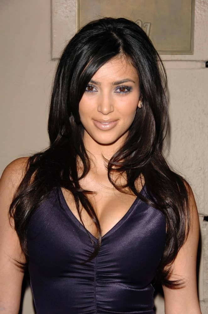 Kim Kardashian with her long shaggy waves at the A Midsummer Night's Dream: A Magic Night of Poker, Players and Stars in The Avalon on July 07, 2006.