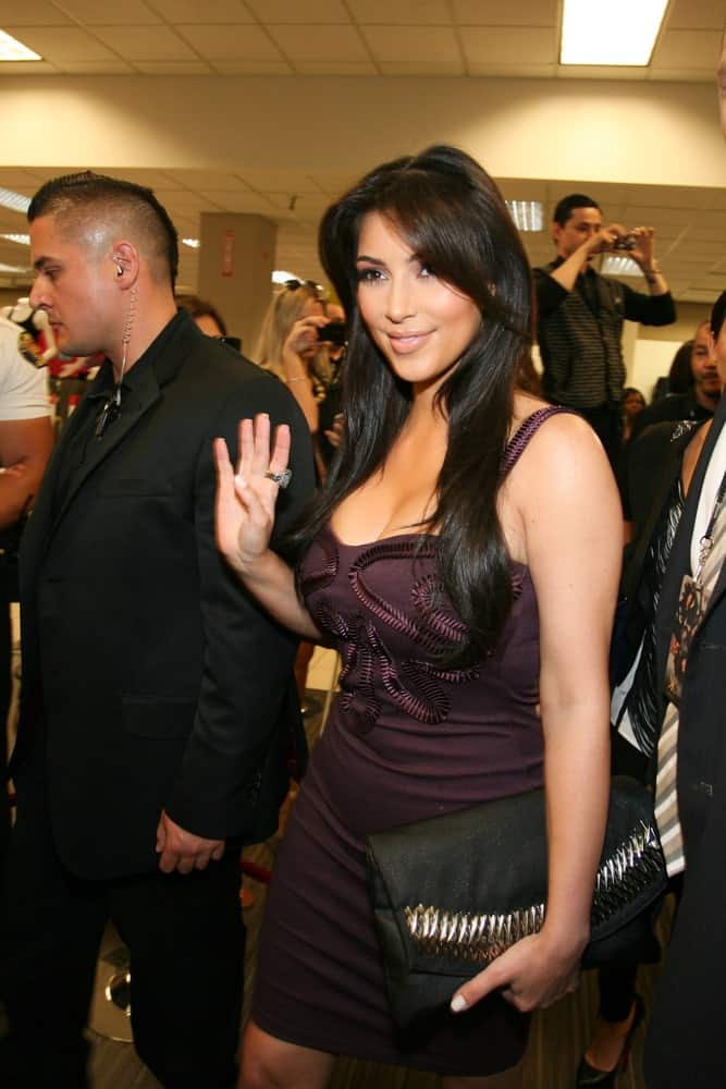 Kim Kardashian was spotted at the Sears in Cerritos Mall for the launch of their brand new clothing line,