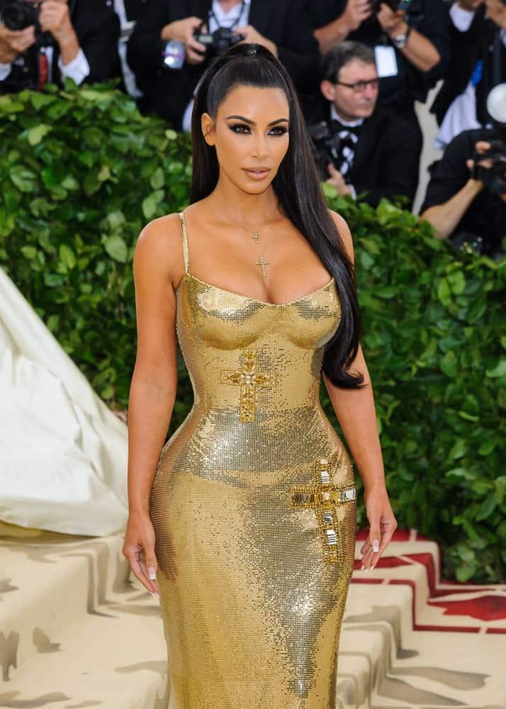 Kim Kardashian arrived for the 2018 Metropolitan Museum of Art Costume Institute Gala: