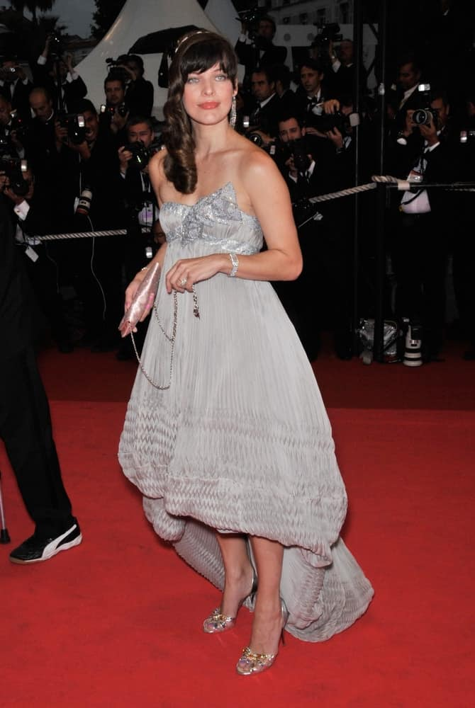 Milla Jovovich was at the premiere for