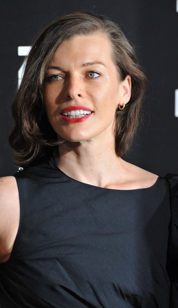 Milla Jovovich was at the premiere of