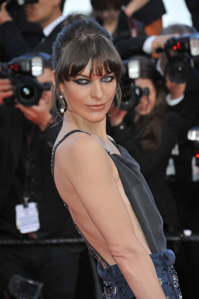 Milla Jovovich attended the gala premiere for