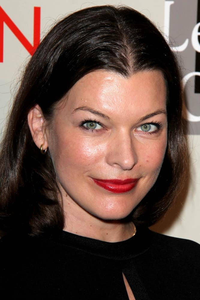 Milla Jovovich was at the L.A. Gay & Lesbian Center's
