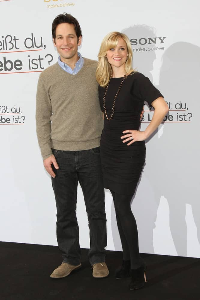Paul Rudd and Reese Witherspoon attended the 'How Do You Know' Photo call at the Hotel De Rome on January 19, 2011 in Berlin, Germany. Witherspoon wore a simple lack dress that paired well with her shoulder-length blond layers with bangs.