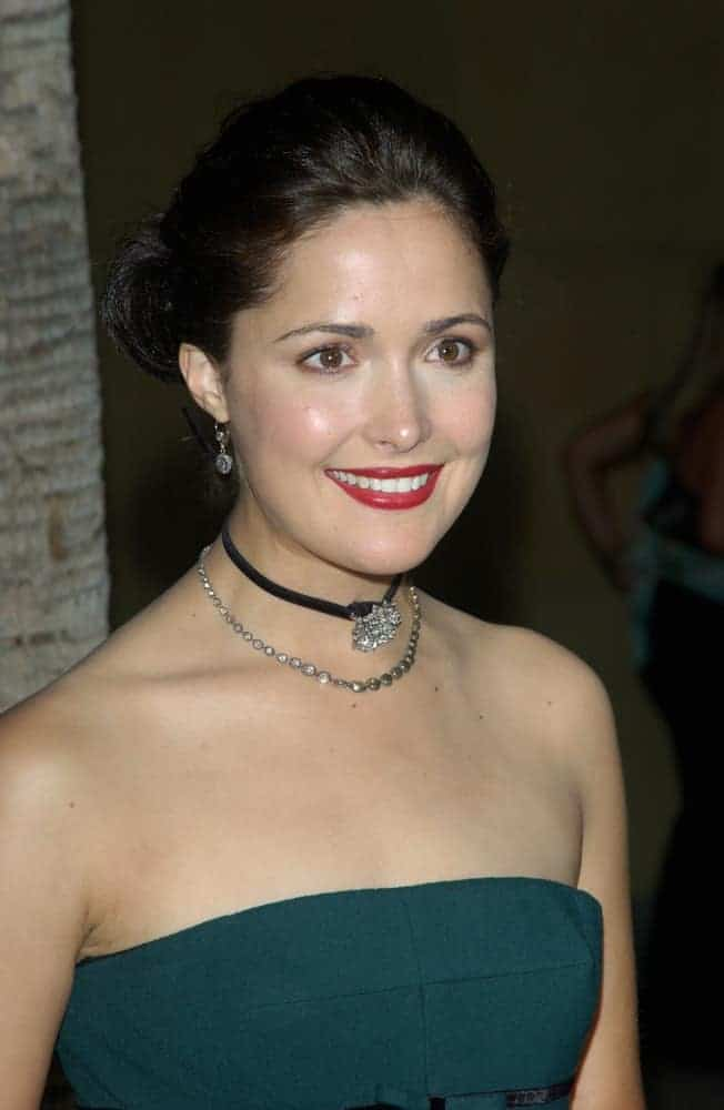 Actress Rose Byrne was at the world premiere of her movie Wicker Park on August 31, 2004, in Hollywood. She was seen wearing a green strapless dress with her raven bun hairstyle with a slick finish.