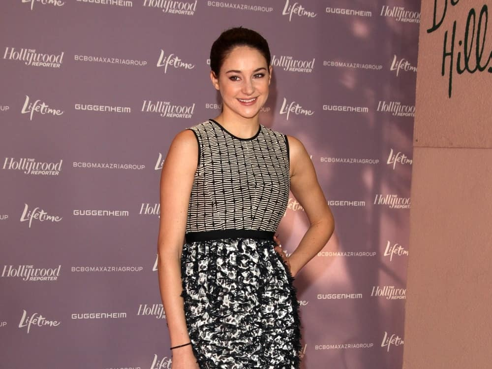 Shailene Woodley wore a lovely patterned dress at the