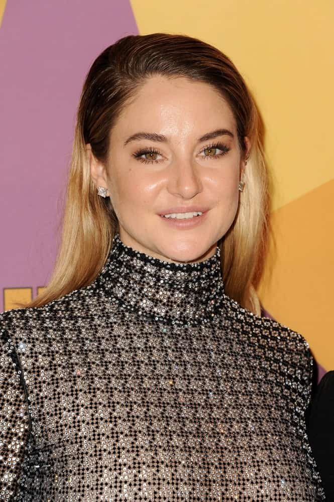 Shailene Woodley was at the HBO's 2018 Official Golden Globe Awards After Party held at the Circa 55 Restaurant in Beverly Hills on January 7, 2018. She wore an elegant bejeweled dress that she paired with her slick half-up hairstyle with two tones.
