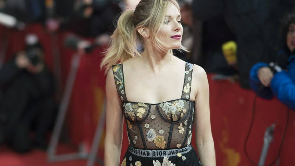 Sienna Miller complements her ponytail hairstyle with long bangs at the 67th Berlinale International Film Festival last February 14, 2017.