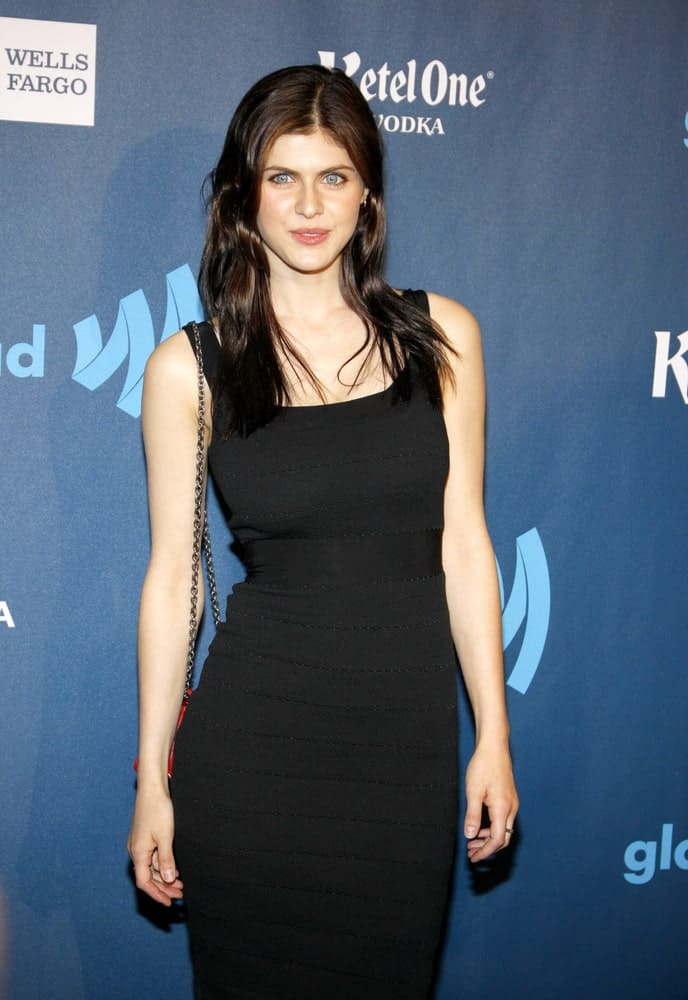 Alexandra Daddario at the 24th Annual GLAAD Media Awards held at the JW Marriott Los Angeles at L.A. LIVE in Los Angeles on April 20, 2013.