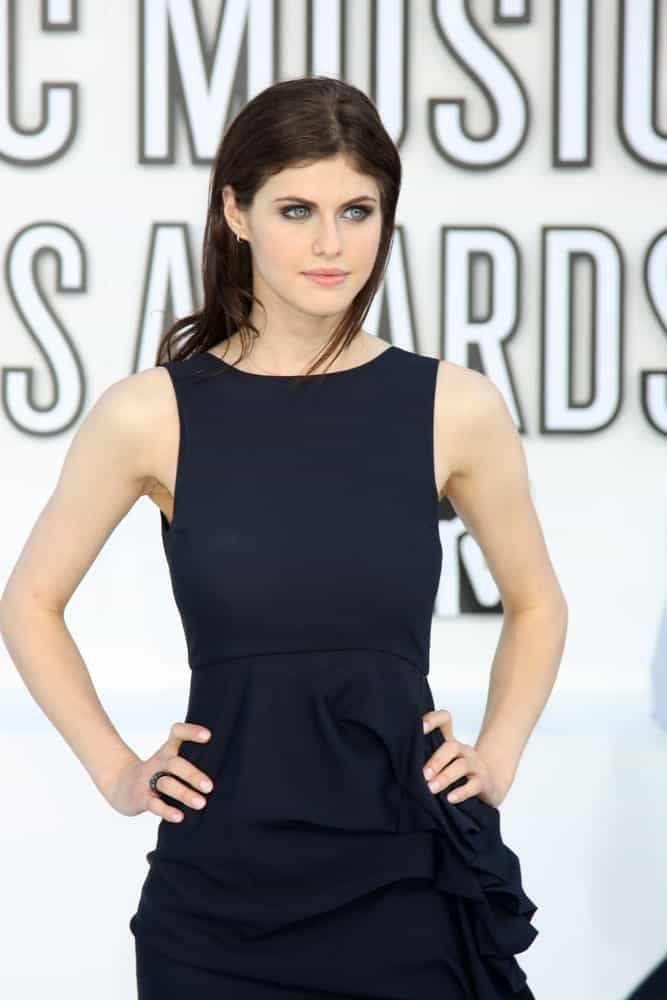 Alexandra Daddario arrives at the 2010 MTV Video Music Awards at Nokia - LA Live on September 12, 2010 in Los Angeles, CA.
