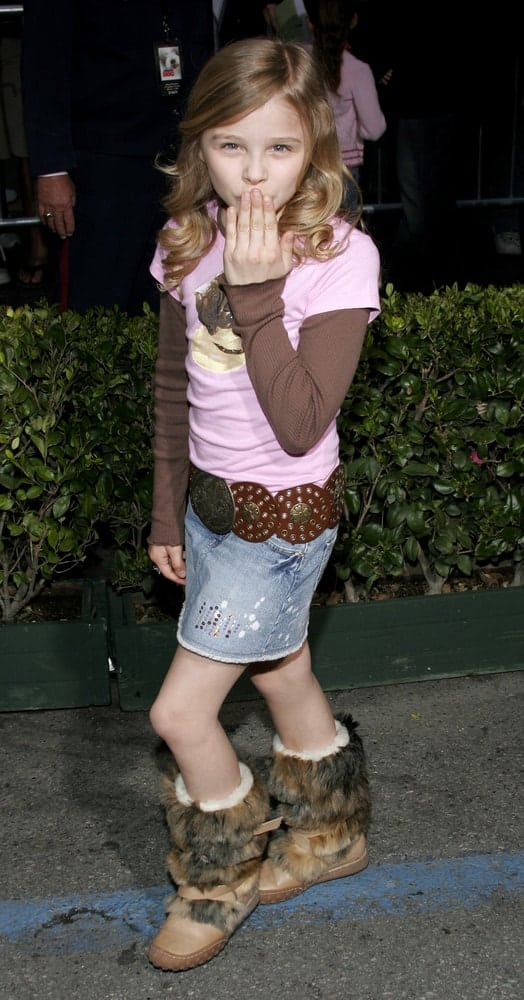 A young Chloe Grace Moretz attended the Walt Disney's World Premiere of