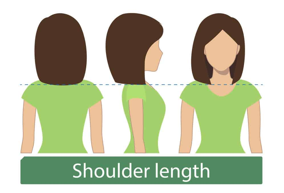Medium-length-shoulder-length hair chart for women