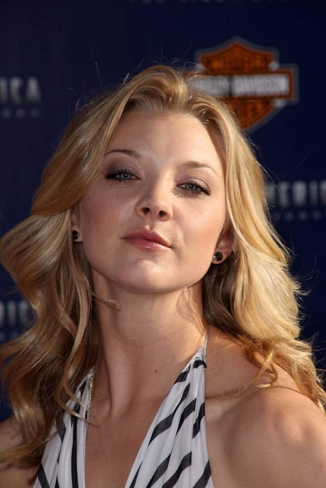 Natalie Dormer wore a printed halter dress that perfectly goes with her bouncy waves at the Los Angeles Premiere Of