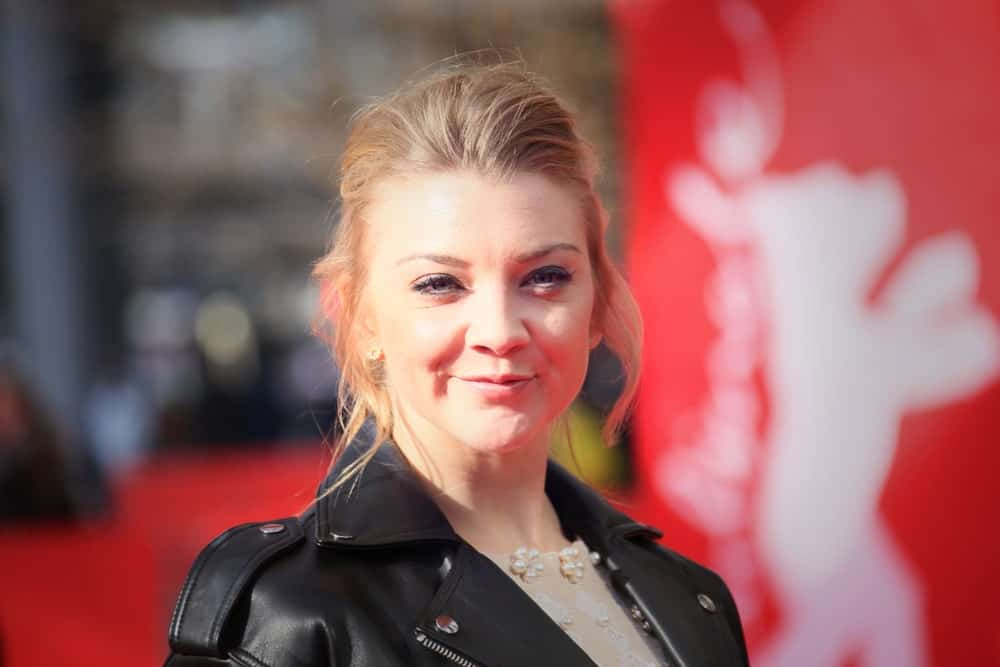 Natalie Dormer rocked a messy slicked upstyle with loose tendrils at the 'Picnic at Hanging Rock' premiere during the 68th Berlinale International Film Festival Berlin at Zoo Palast on February 19, 2018.