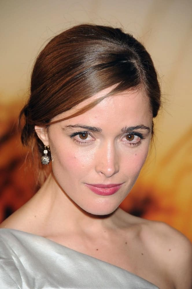 Rose Byrne was at the MoMA Salute to Baz Luhrmann at The Museum of Modern Art in New York, NY on November 10, 2008. SHe was lovely in her silver dress and slick bun hairstyle with subtle highlights.